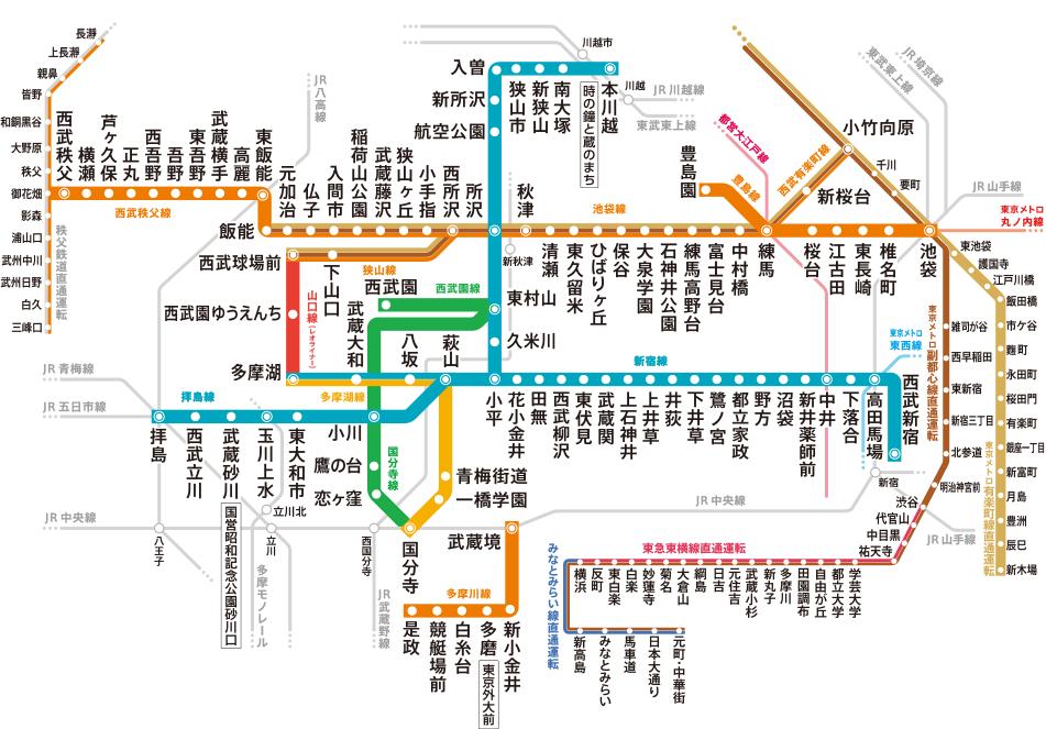 Seibuen Line route map